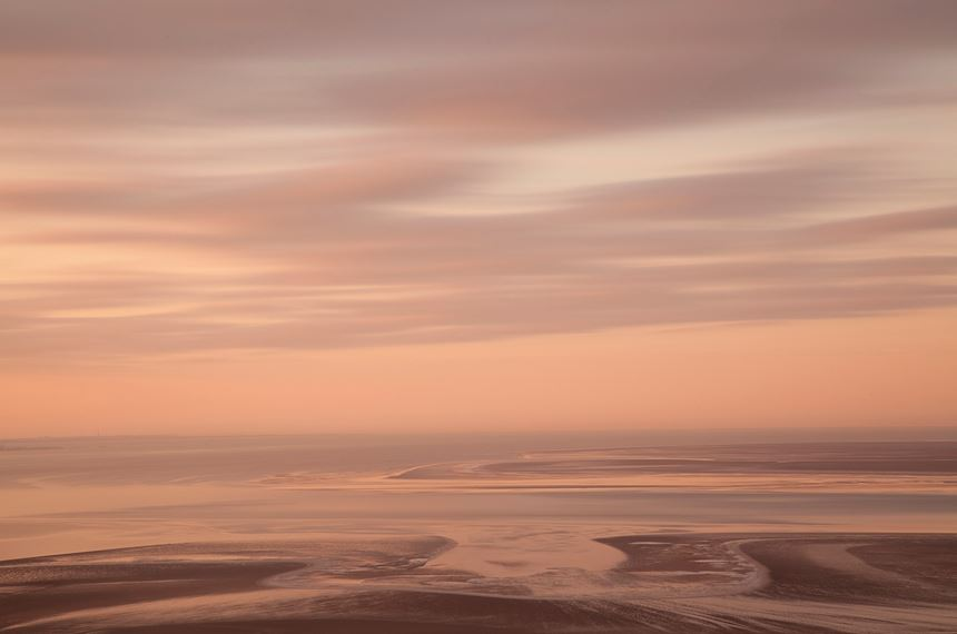 View across Morecambe Bay at dawn from Arnside, Cumbria. - Photo: Peter Cairns
