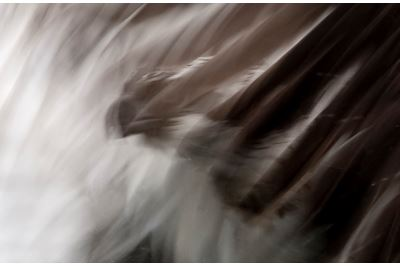 Abstract of Osprey fishing, Kangasala, Finland.