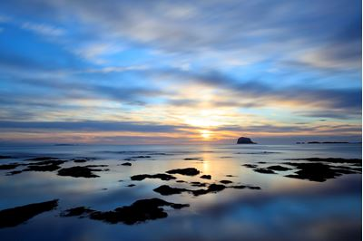 Bass Rock at dawn, North Berwick.