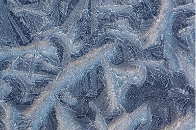 Ice patterns at -15c, Scotland.