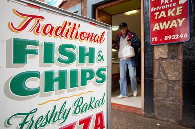 Fish & Chip shop (reliant on healthy seas), North Berwick.