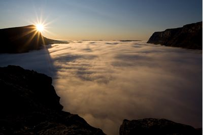 Dawn over Laitaure delta, Sarek National Park, Laponia World Heritage Site, Sweden