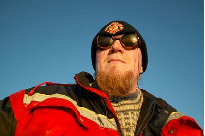 Close up of Ole Martin Dahle, owner of Norway Nature (wildlife watching business in Norway)