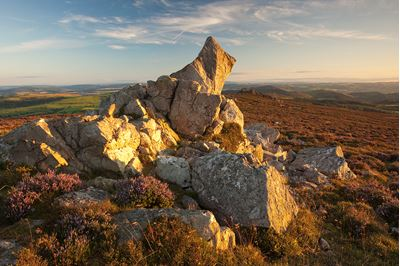 Rocky outcrop on Stiperstones Ridge, Shropshire, England.