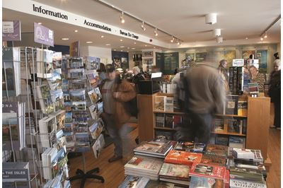 Tourist Information Centre at Craignure, Isle of Mull, Scotland where many visitors come to see wildlife.